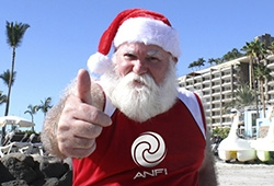 Video Santa Claus is back at Anfi for Christmas
